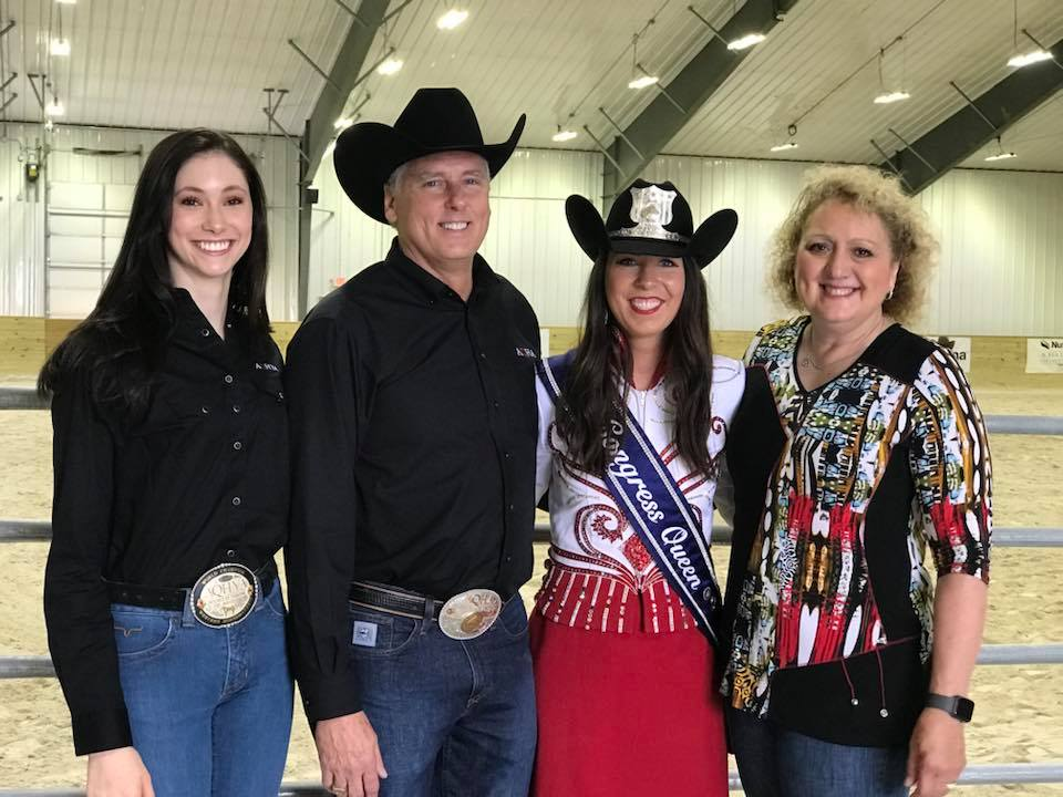 Wilmington, Ohio - Pictured: Olivia Tordoff, AQHYA Representative, Dr. Scott Myers, AQHA Executive Committee member, and Rhonda Replogle, trainer at Rhonda Replogle Show Horses