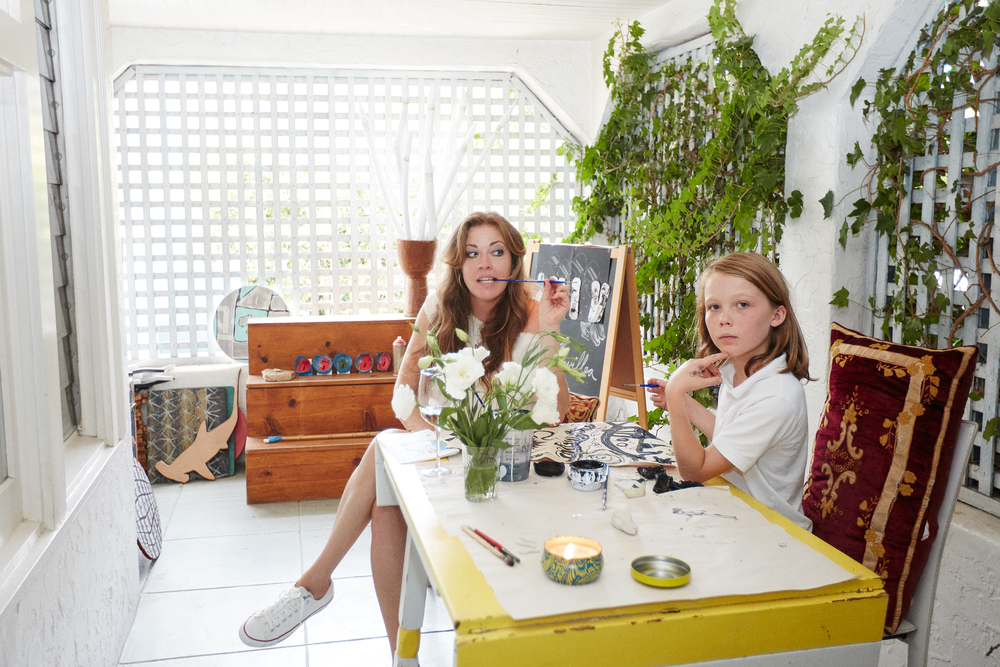 clamdiggin, Alexandra Fisher and her son Cole, Yahoo Style Decor, Nov 2015