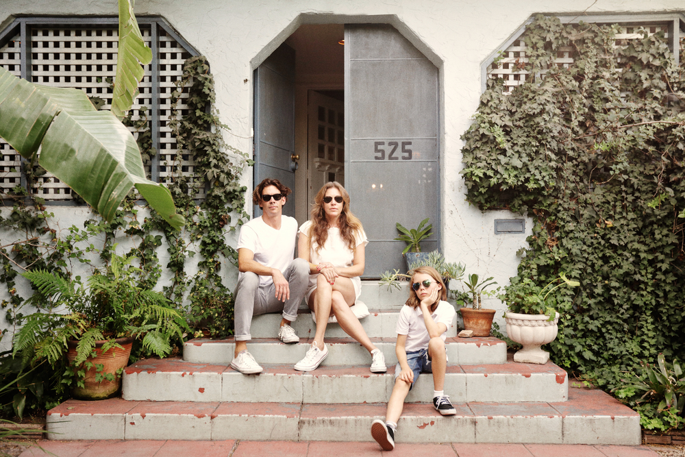clamdiggin, Alexandra Fisher and Kevin Johnson with their son Cole, Yahoo Style Decor, Los Angeles, CA Nov 2015