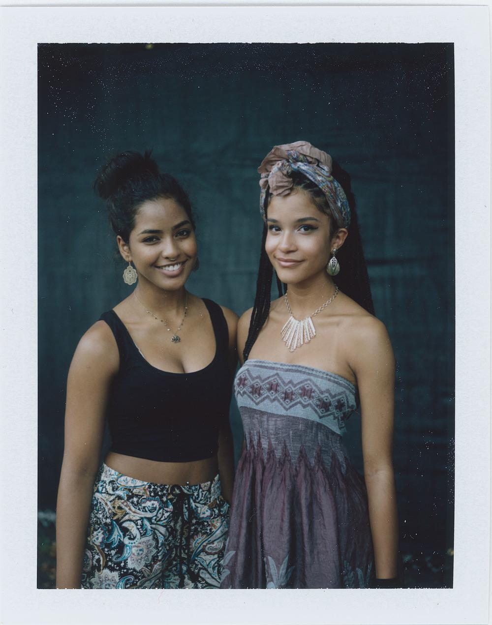Sophia Clarke and Fleidy Aponte,  AfroPunk Festival 2015 NYC Yahoo Style
