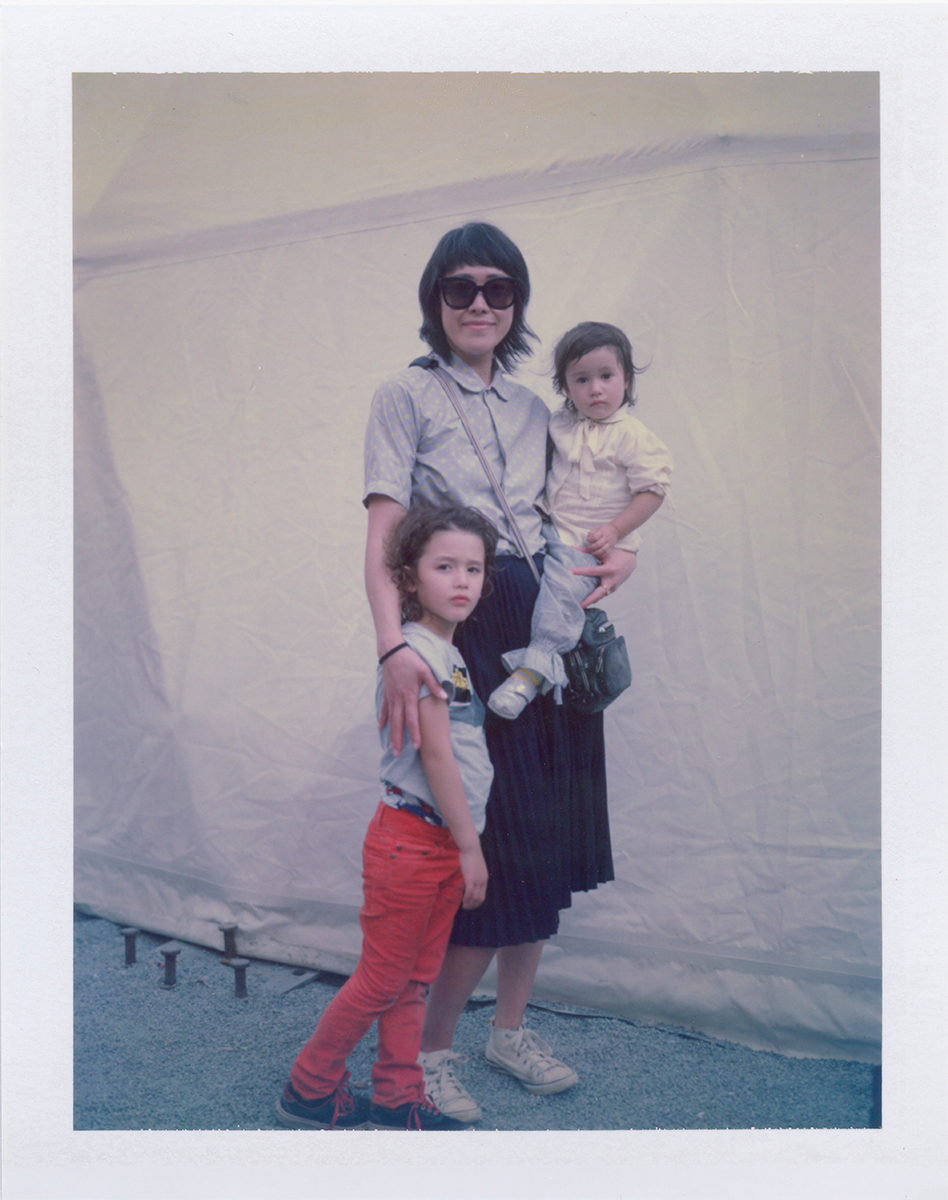 Mika Parla with her sons Otono and Remi, NYC 2014