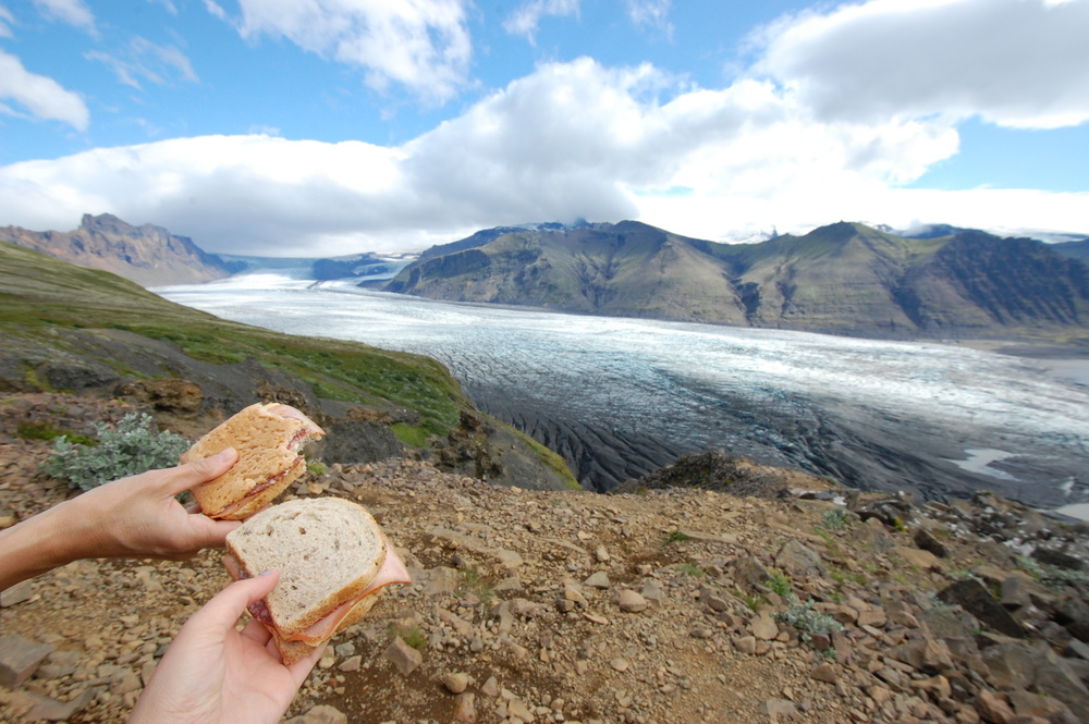 Picnic on a hike in Vatnajökull National Park