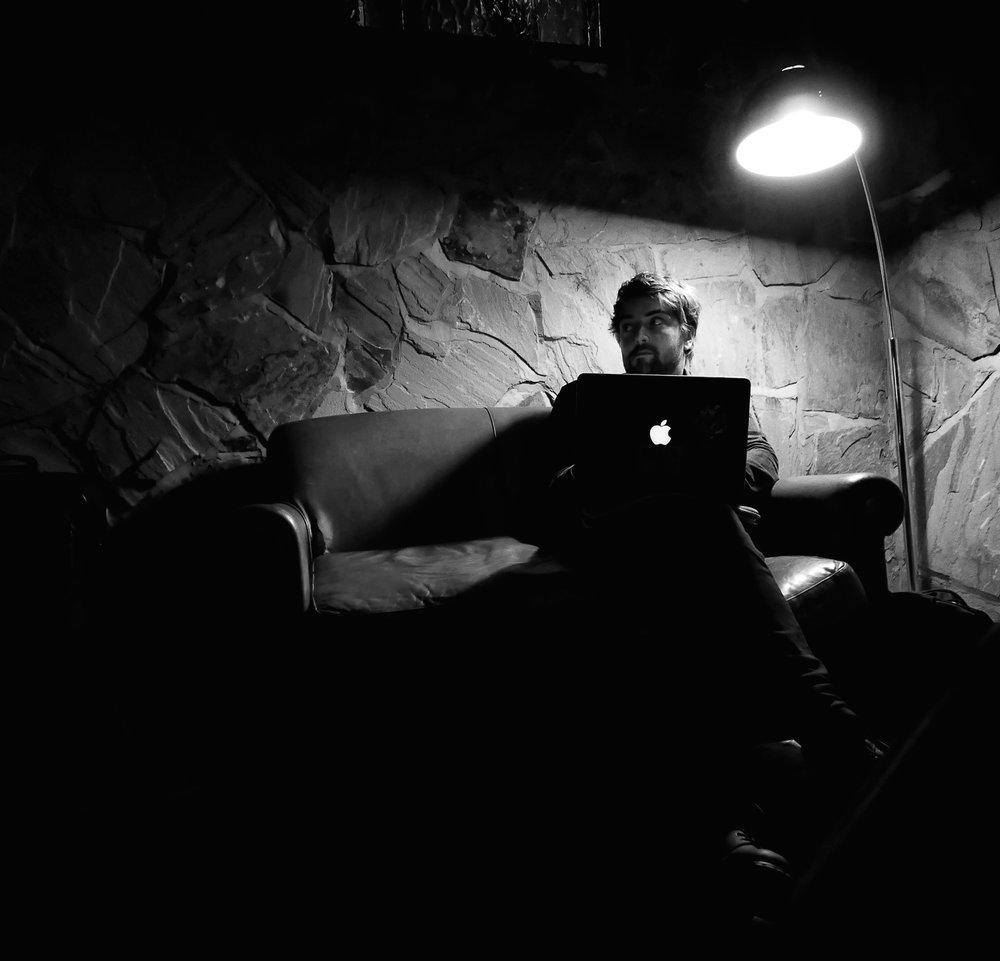 Alfie Tyson Brown, backstage, Stevie Parker's UK tour 2017