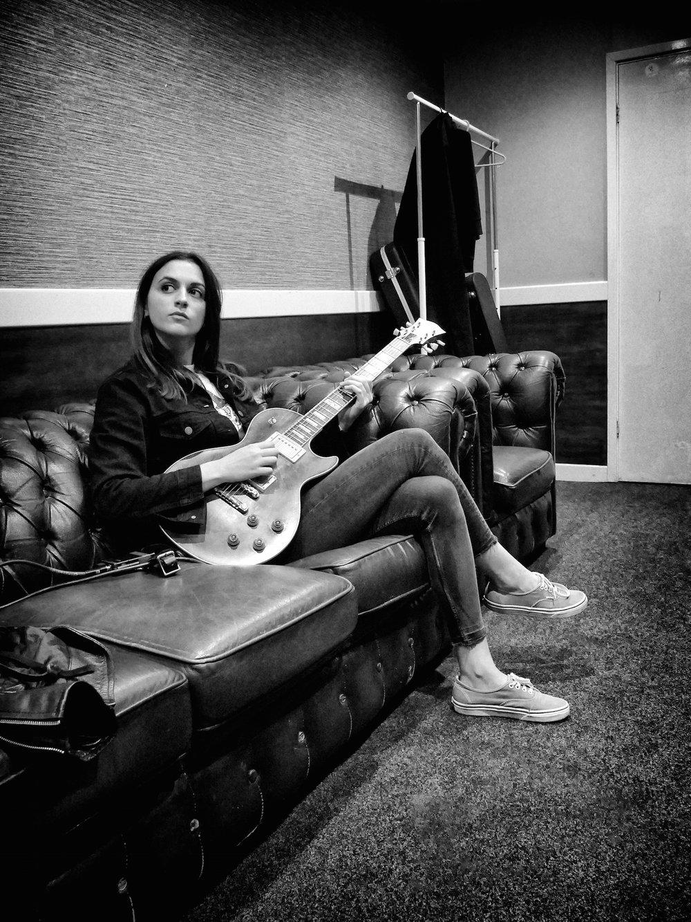 Laura Cox, backstage in Leeds, UK tour 2018