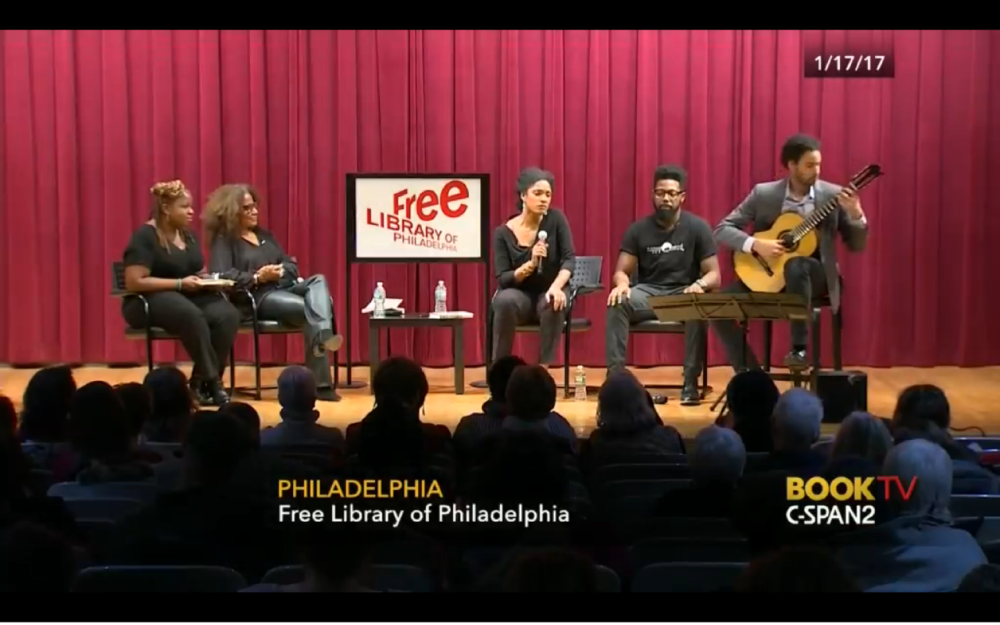 "I had an amazing time performing in Philadelphia with soprano Alicia Hall Moran after a panel discussion on the book ""The Meaning of Michelle"" (Obama). It was about Michelle Obama's impact on multiple writers and the panel featured essayists Veronica Chambers, Benilde Little, Alicia Hall Moran, & Damon Young and was broadcast nationally on CSPAN's Book TV. It was an honor to be among such great company."