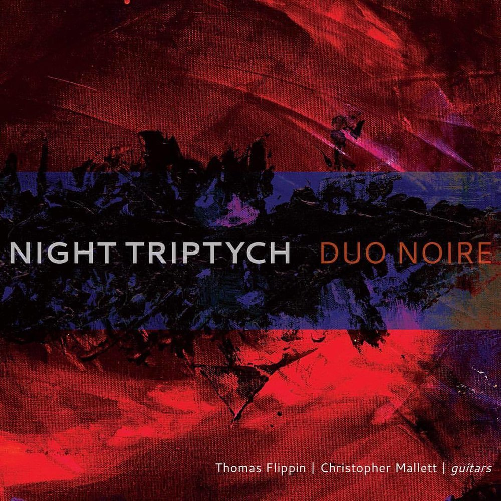 "It's been 1 month since Duo Noire released our album Night Triptych, featuring 6 incredible new classical guitar duets by brilliant women composers from around the world: Clarice Assad, Courtney Bryan, Golfam Khayam, Mary Kouyoumdjian, Gity Razaz, and Gabriella Smith.     We are honored to have worked with them and to have received such amazing reviews, including this newest one from  Stereophile.     We hope the guitar world enjoys and embraces this music of our time.   ***  ""There's a goldmine of ideas here, whose riches will unveil themselves more and more over time."" -Stereophile  ***  ""Flippin and Mallett [are] virtuosos who invest their performances with energy and conviction. To claim that the two break new ground in the world of classical guitar music on the hour-long release isn't overselling it.""  -Textura.org    ***   ""All contemporary programs of guitar music are not common, and this may be the first to feature exclusively female composers…A truly pathbreaking recording that is greatly satisfying in its own right."" -AllMusic    #newfocusrecordings #gabriellasmith #classicalmusic #classicalguitar #classicalguitarist #classicalguitarasia #strings #music #newmusic #composer #guitar #guitarduo #albumcover #albumart #acousticguitar #guitarstagram #womeninmusic #womencomposers #classicalmusician"