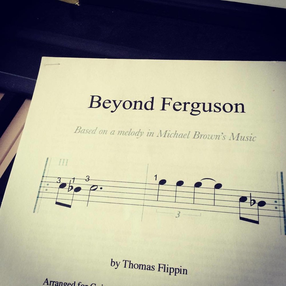 So happy to have finished arranging and rewriting my piece Beyond Ferguson for an extraordinary guitar trio. It's based entirely on a melody from Michael Brown's rap music and a reading of Du Bois. The quartet, trio and duo versions are now on my website for free download. #classicalguitar #newmusic #guitartrio #chambermusic #ferguson #michaelbrown