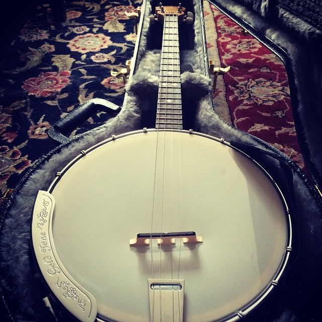 And now for something completely different. This is my life for the next two weeks: Banjoist. What a month! #banjo #goldtone #resonator #opera