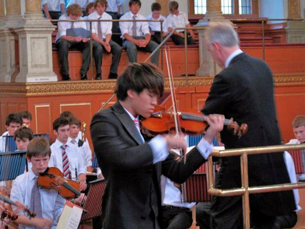 Performing Tchaikovsky's Violin Concerto in D at the Sheldonian Theatre, Oxford