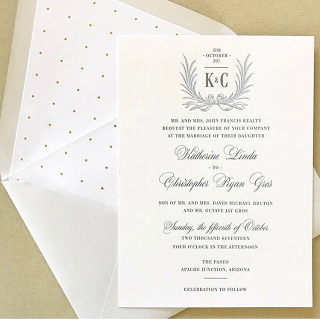 Letterpress love... 🗝 #loveprettyinvites #weddingwednesday #invitationdesign #custommonogram