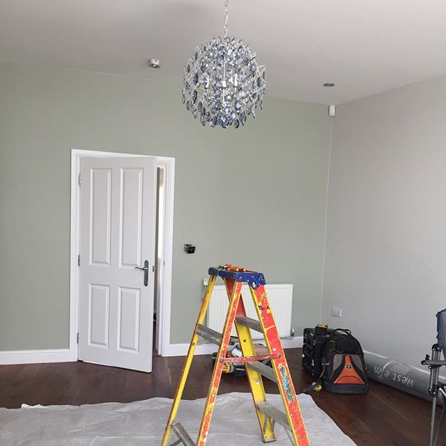 "Fun and games securing a nice heavy chandelier to plasterboard. Where there's a will there's a way. (And some wood, and some 4"" screws and any other method I can bodge up there) 😉"