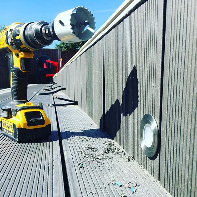 Decking lights installation