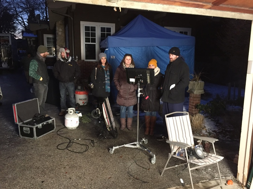 Super-great Olson Agency creatives and our amazing crew shucking off a Chicago winter night.