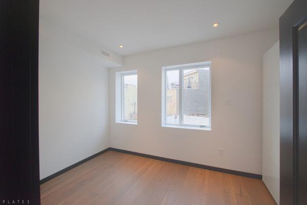 Wide plank hardwood floors.
