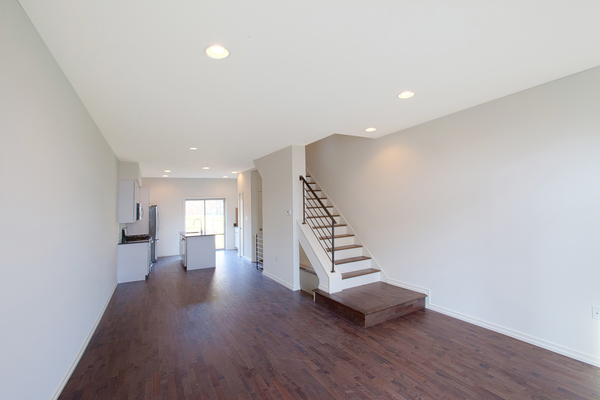 Open, bright living space that stretches approximately 40' tough the first floor