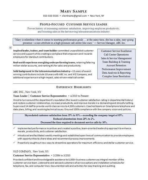 Resume Samples — COMPELLING RESUMES