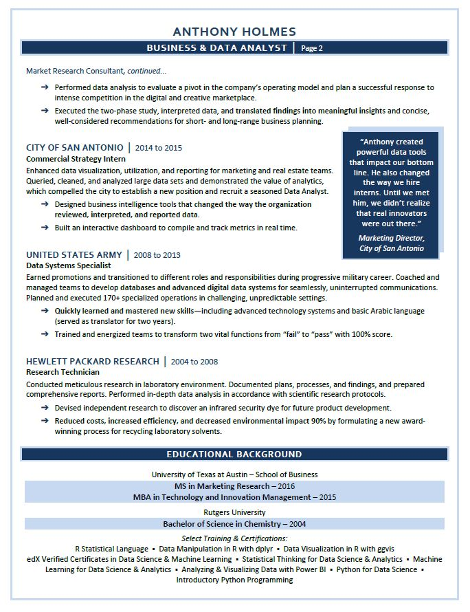 a few sles compelling resumes
