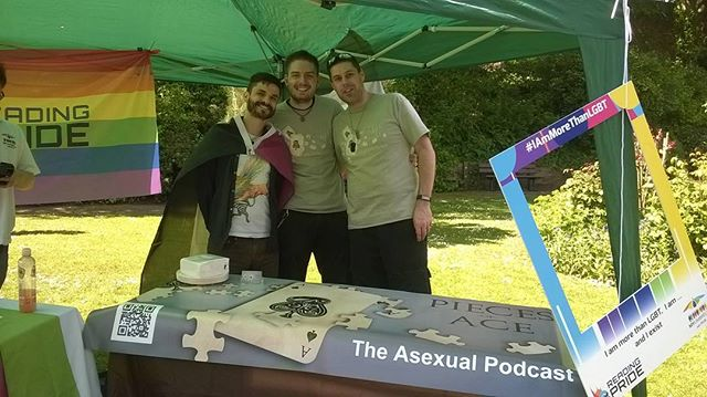 Come check us out at Exeter pride today! ♠️ #exeterpride #asexual #asexualpodcast #asexuality #stayace #weareproud #piecesofacepodcast #podcast #piecesoface