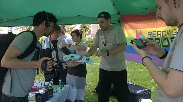Action shot from Exeter pride yesterday #aceandinyourface #lovewins #asexualpodcast #asexual #asexuality #piecesofacepodcast #piecesoface #hostthom #hoststeve #stayace
