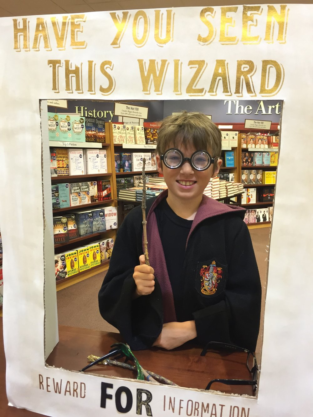 Lined up at midnight for the  Harry Potter  release. He finished it the next day.