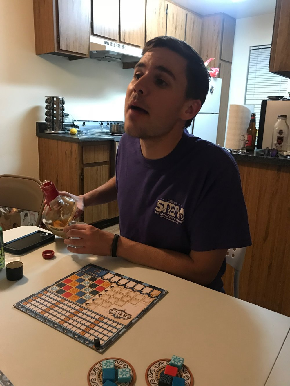 Chazzy No No  joins the team as the newest junior board game editor. He brings a youthful energy to the team and an unrelenting desire to get the best possible tracks laid down despite the hour of the night.