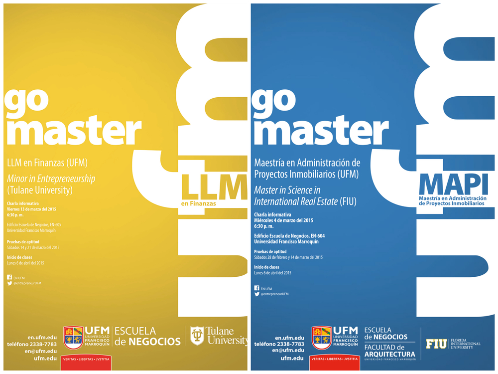 Institutional Campaign for the School of Business and its Four Programs in Guatemala in 2015 (Newspaper publications)