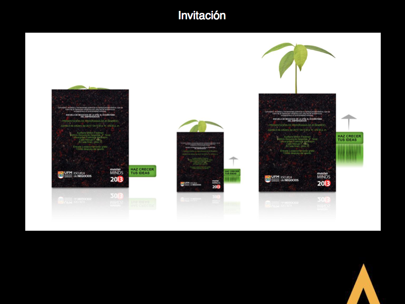 Campaign for Master Minds 2013 (printed invitation)