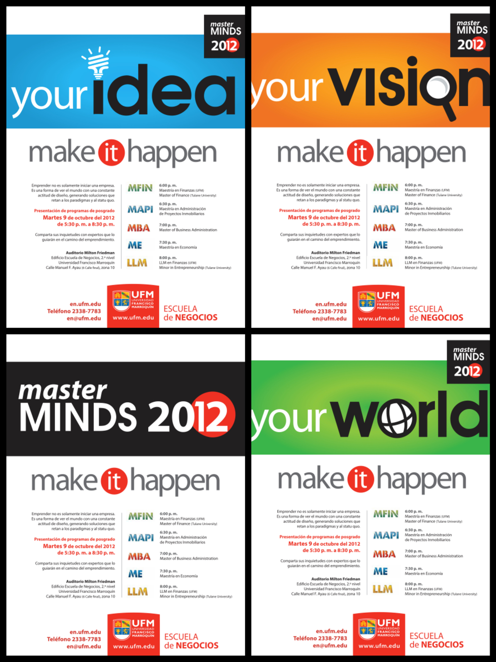 Campaign for Master Minds Guatemala 2012 (Newspaper publications)