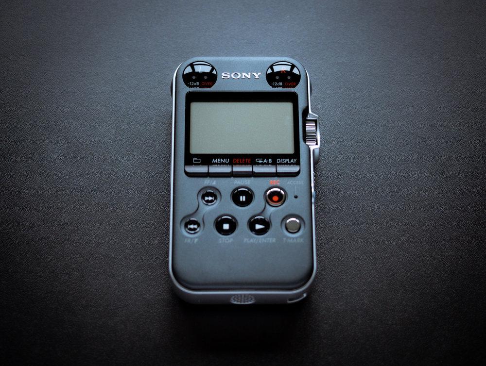 Sony PCM M10 in the studio