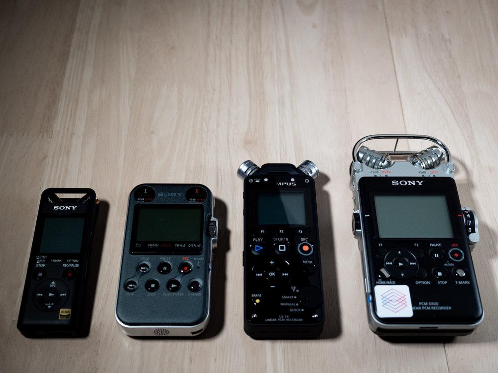 Handheld recorder lineup