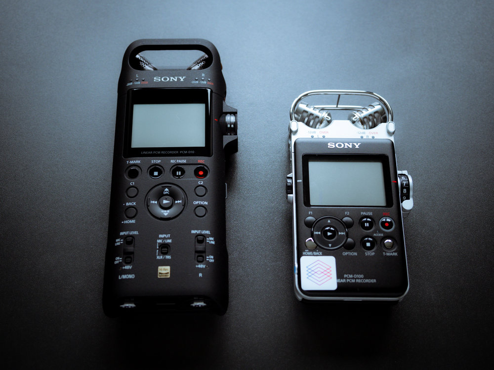Sony PCM D10 next to the D100