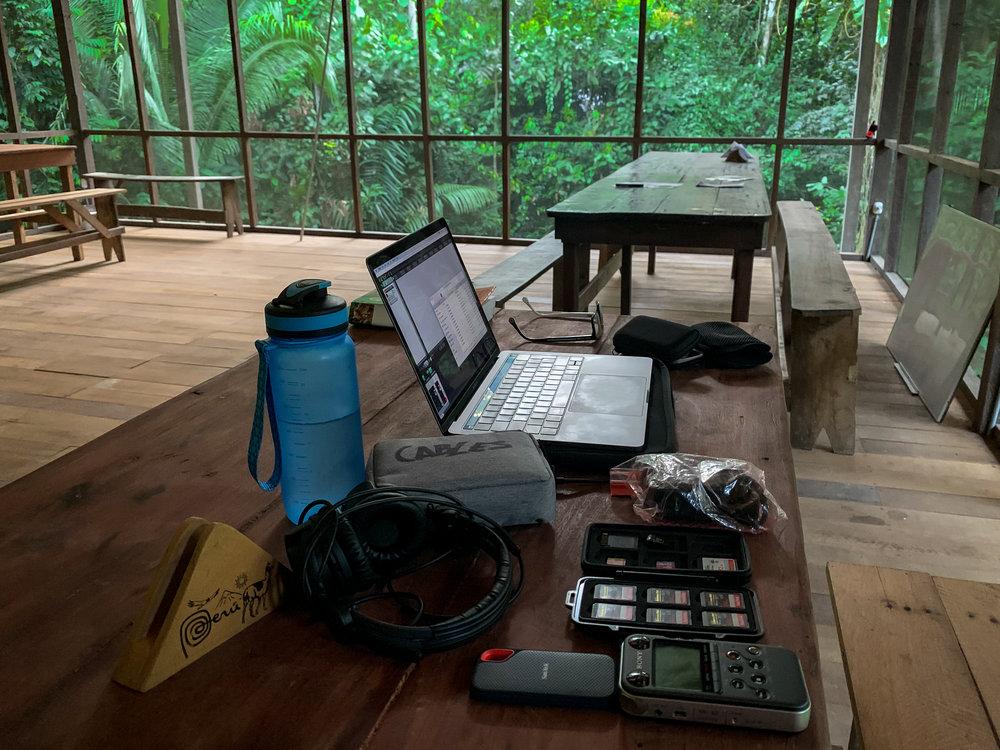 Short break between jungle treks