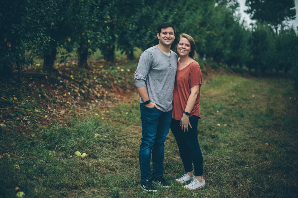 When you run into a photographer friend while you're at the apple orchard, you always ask them to take your picture!     Thanks  Allie Z !