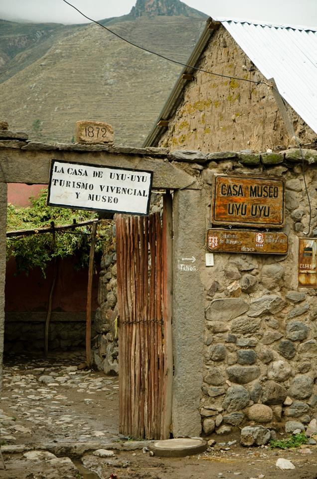 Gerardo Huaracha and Luisa Cutipa's cultural tourism lodge and museum in Yanque, a hamlet in the Peruvian Andes' Colca Valley. (Photo: M. Palacios)