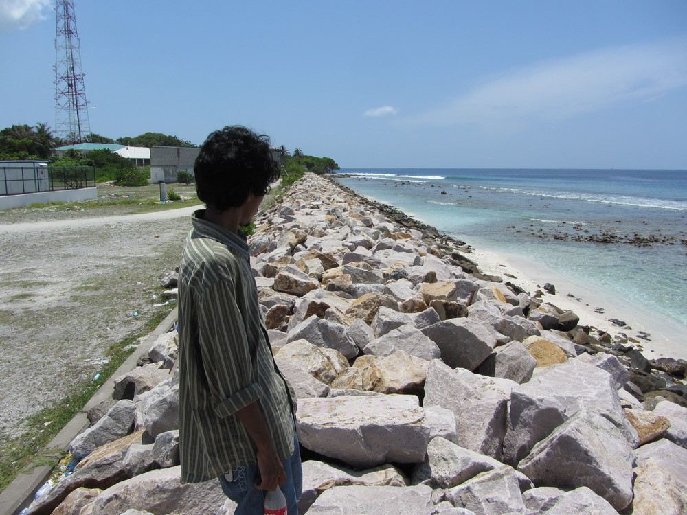 A seawall protecting the island of Vilingili in the Maldives, where I have conducted comparative research on climate change and the politics of resilience. This is one of the world's lowest-lying countries, which scientists and policymakers suggest may be among the world's first to be rendered uninhabitable due to sea-level rise. (Photo: E. Hirsch)