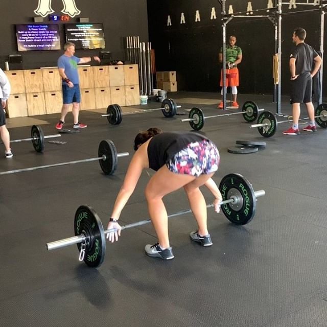 A couple of power snatch PR's for our noon crew... who's next??? #crossfitalpharetta #crossfit #snatch #weightlifting #fitness #alpharetta #nooner #30005 #pr #girlswholift #strongmom #cfafitaf