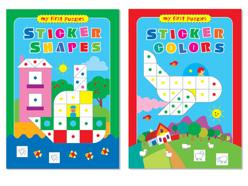My First Puzzles Sticker Shapes and Colors