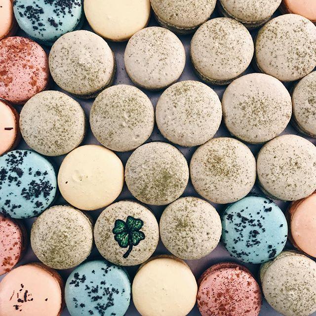 Happy St. Patty's Day! 🍀 . . . . . . . #macarons #lydiabakedit #macahhrun #macahhcrazy #macaronaddict #macaronstagram #bakedgoods #sanjose #bayarea #stpatricksday #stpattysday #🍀 #green #vscocam #foodie #foodart #foodvsco #matcha