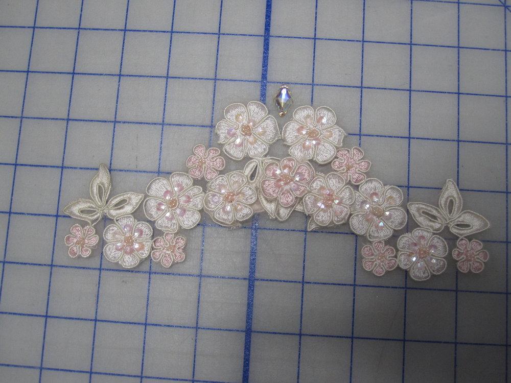 layout pink lace tiara