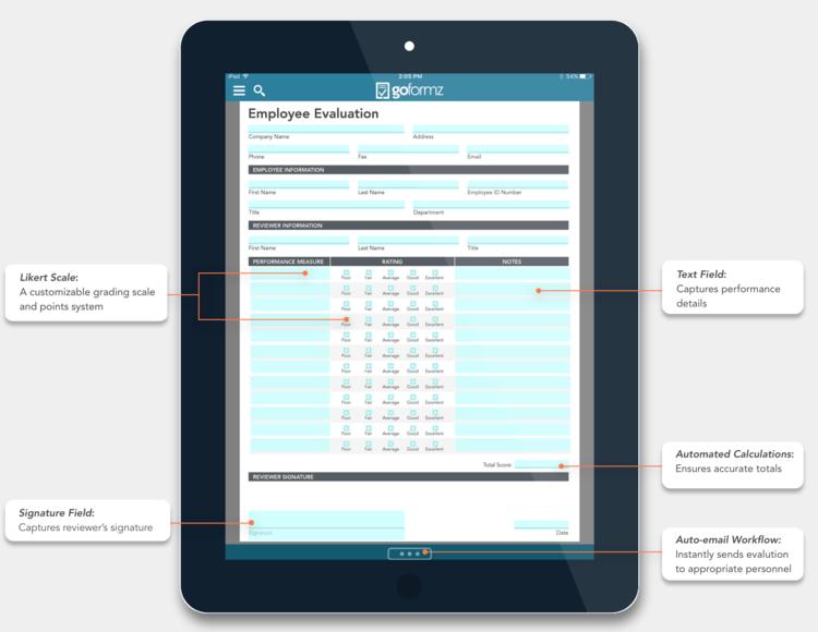 Spotlight Form: The Employee Evaluation Form · Blog | GoFormz Mobile ...