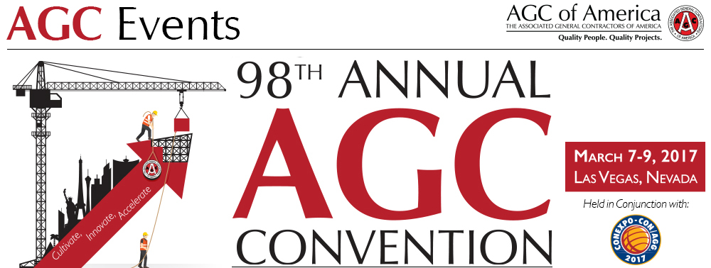 The 98th annual AGC of America Convention takes place March 7-9.