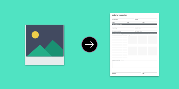 Add images to your mobile forms for increased visibility into projects for collaborators.
