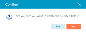 Confirm you want to delete