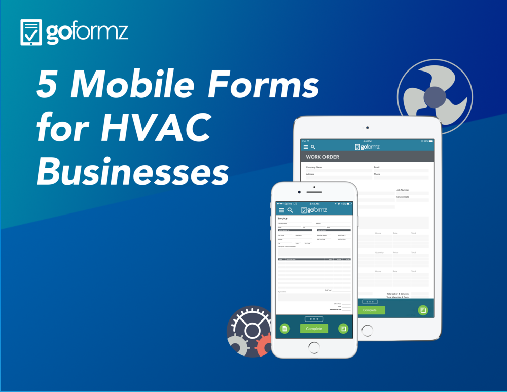 Five mobile forms for HVAC businesses