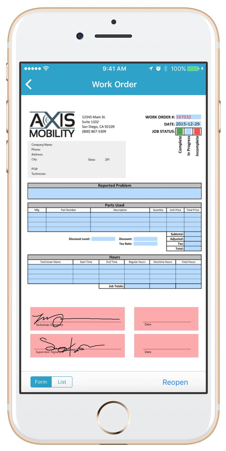 Add a signature box to your mobile forms