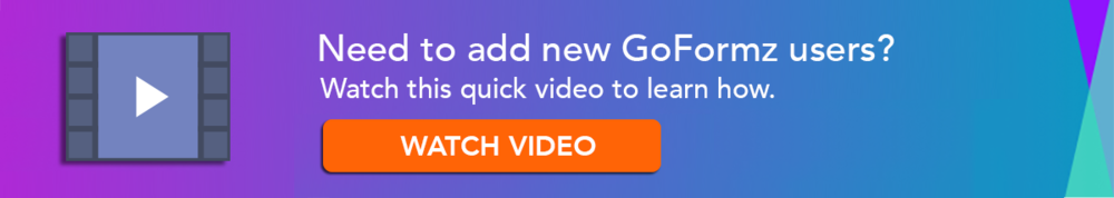 Learn to add new goformz users