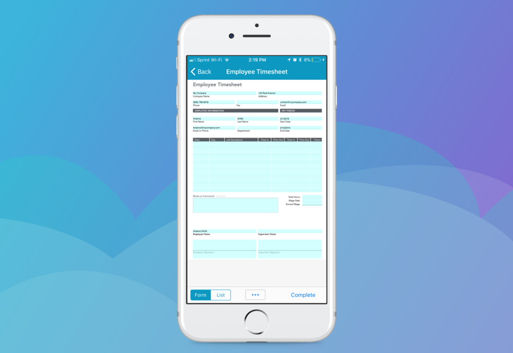 Streamline data entry and processing with the GoFormz mobile app