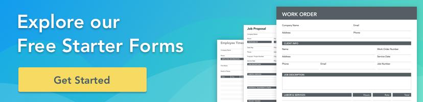 GoFormz free template starter forms