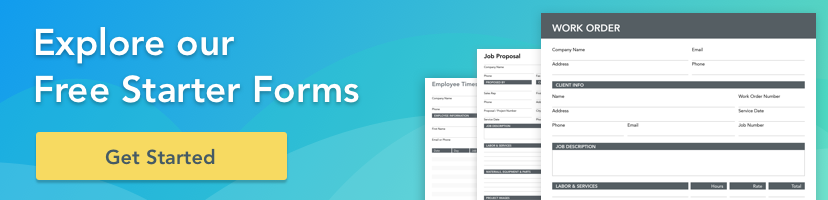 Explore our free starter form templates