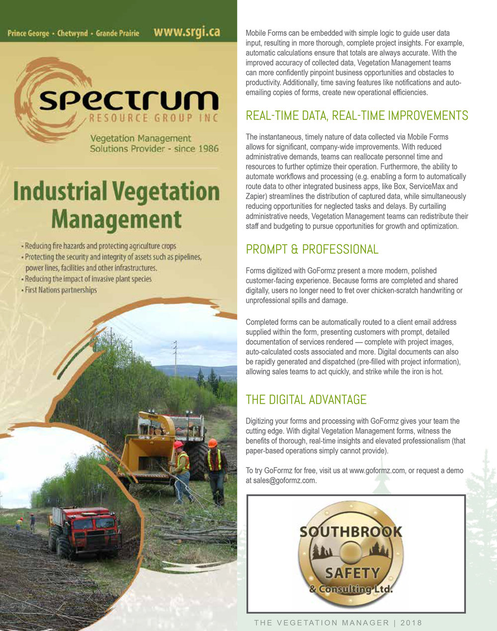 Vegetation Manager Magazine highlights GoFormz - Page 2